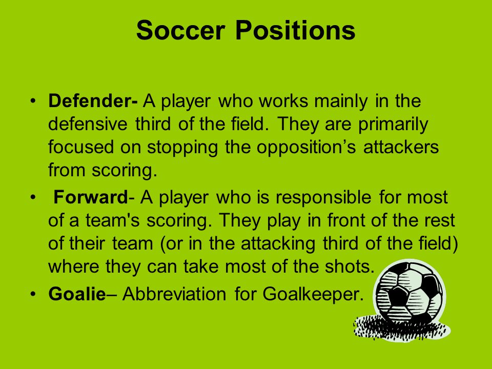 Soccer Positions