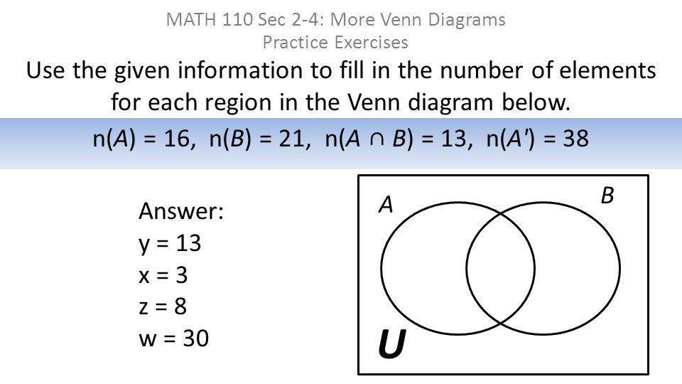 Shade The Venn Diagram To Represent The Set A U A B Ppt