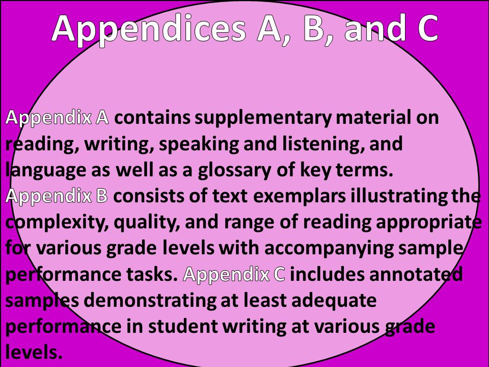 Appendices A, B, and C