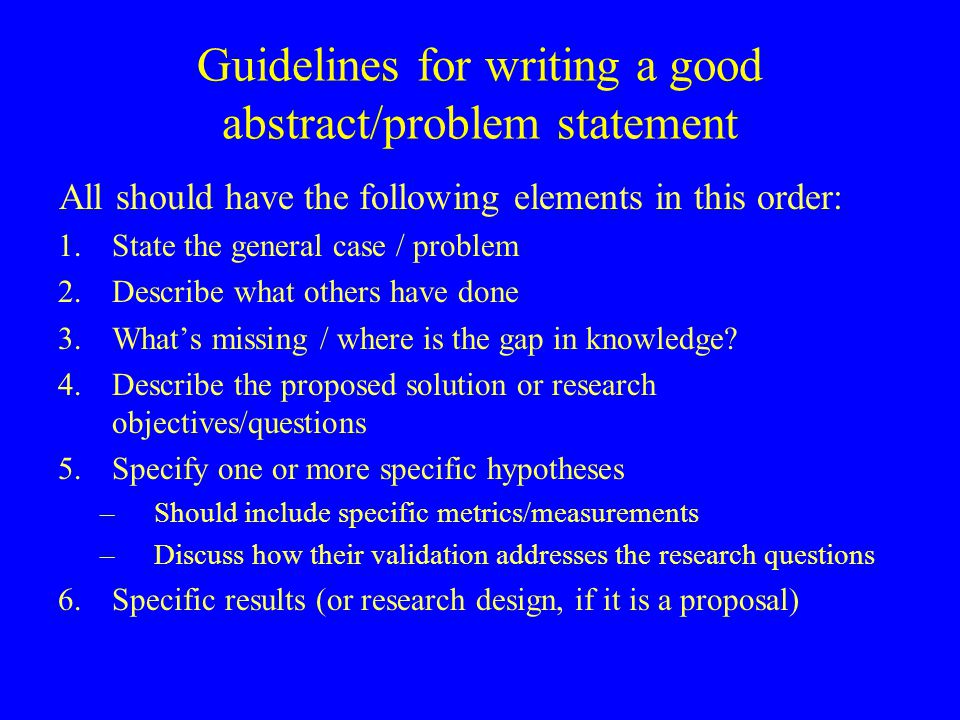 problem statement for dissertation Your problem statement is the statement that makes a point about the issues and information you are discussing, and is what the rest of the proposal hinges upon it is not just your topic, but what you are saying about your topic.