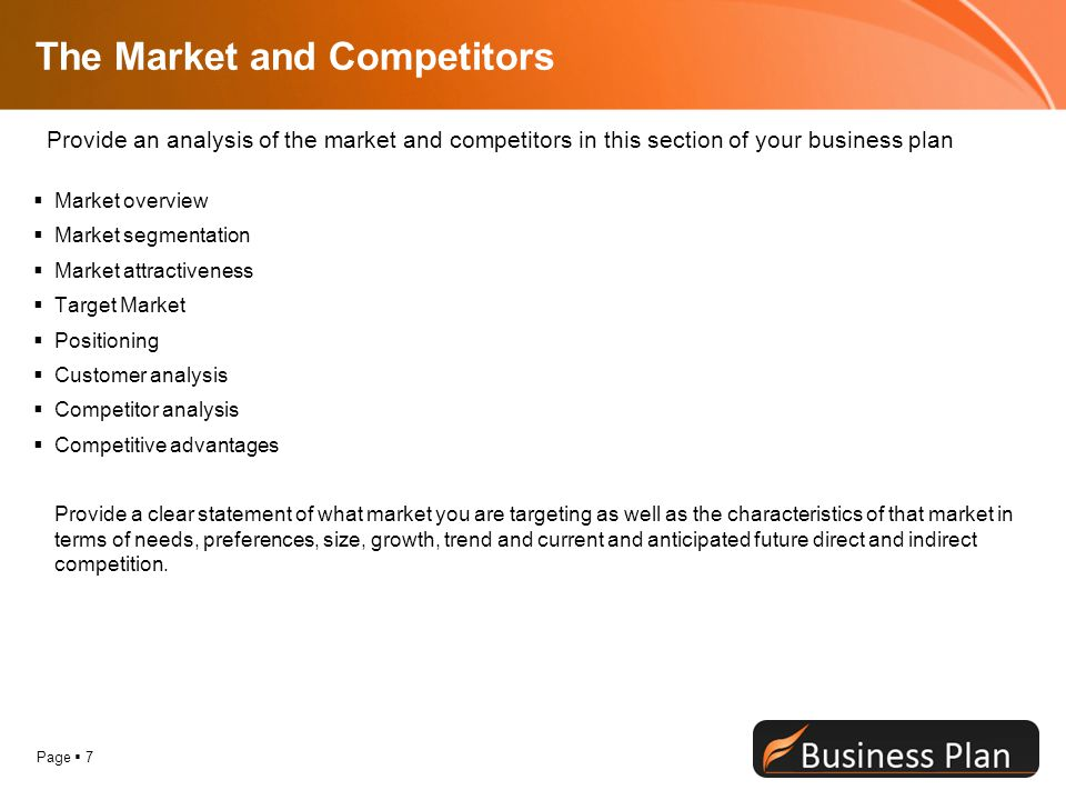 The Market and Competitors