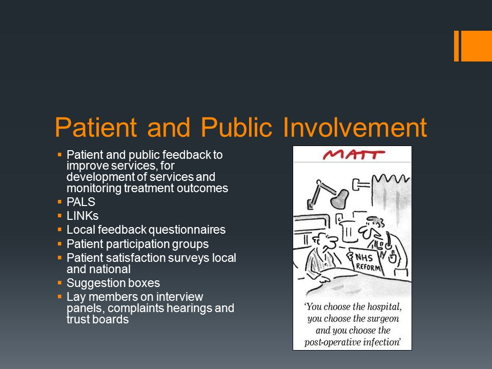 Patient and Public Involvement