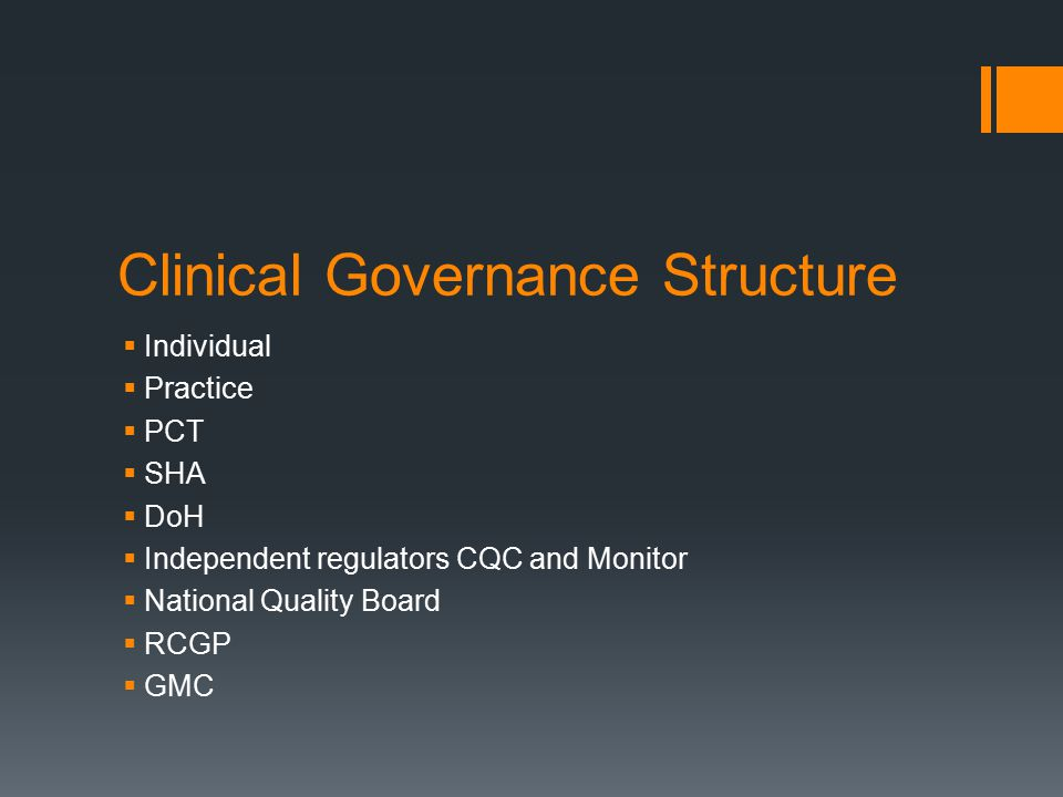 Clinical Governance Structure