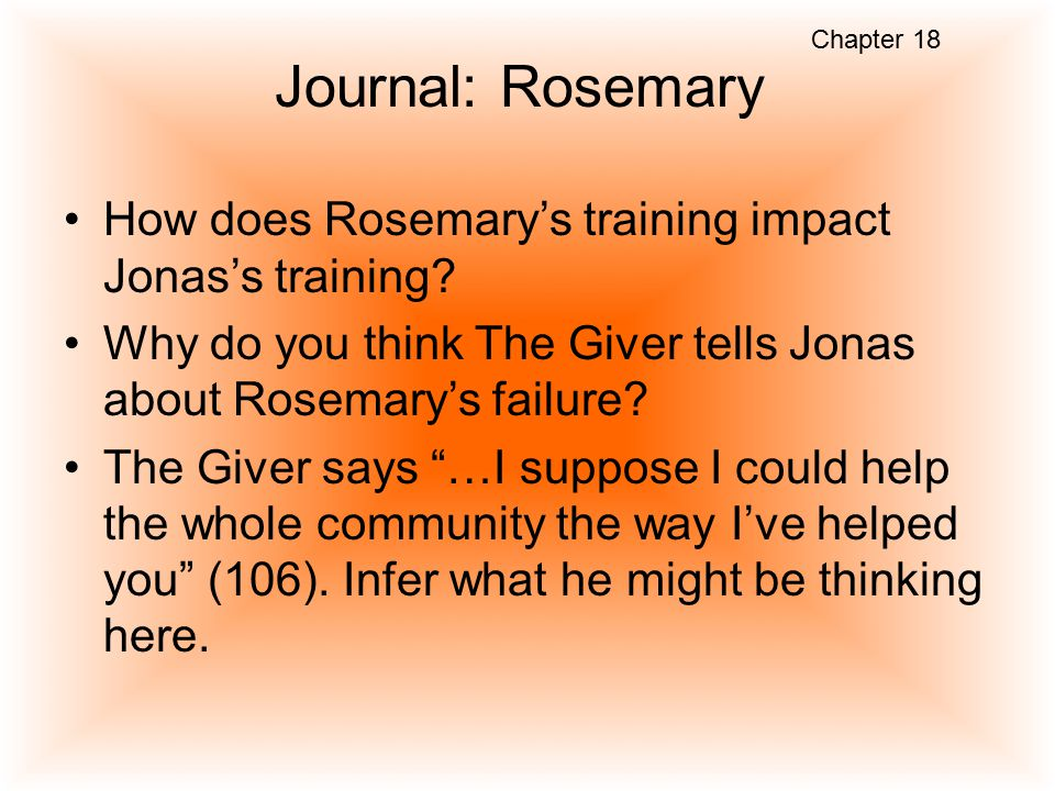 what is the name of jonas community in the giver