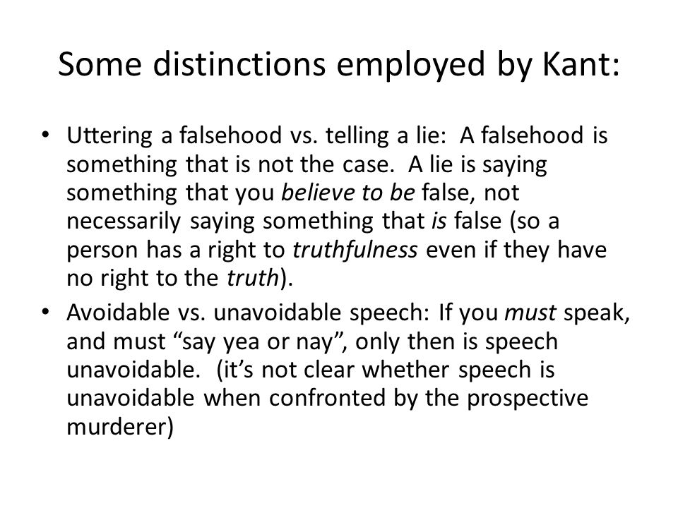 Some distinctions employed by Kant: