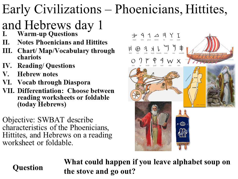 Early Civilizations – Phoenicians, Hittites, and Hebrews day 1 ...