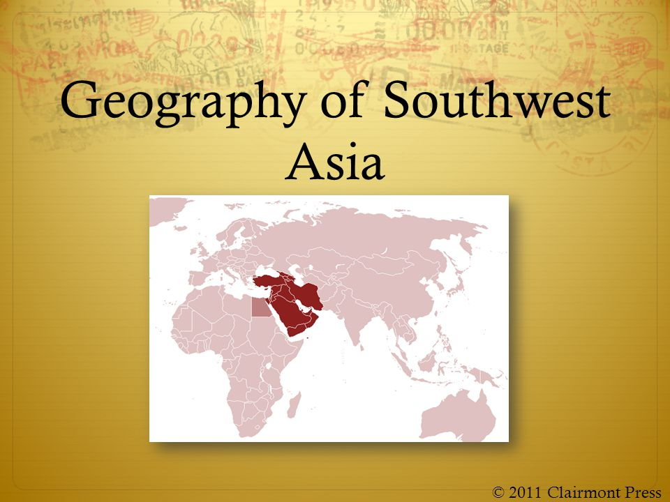 Geography of Southwest Asia