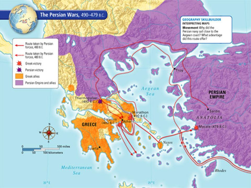 Ancient Greece Map Persian Empire.Ancient Greece Persia Attacks The Greeks Ppt Download