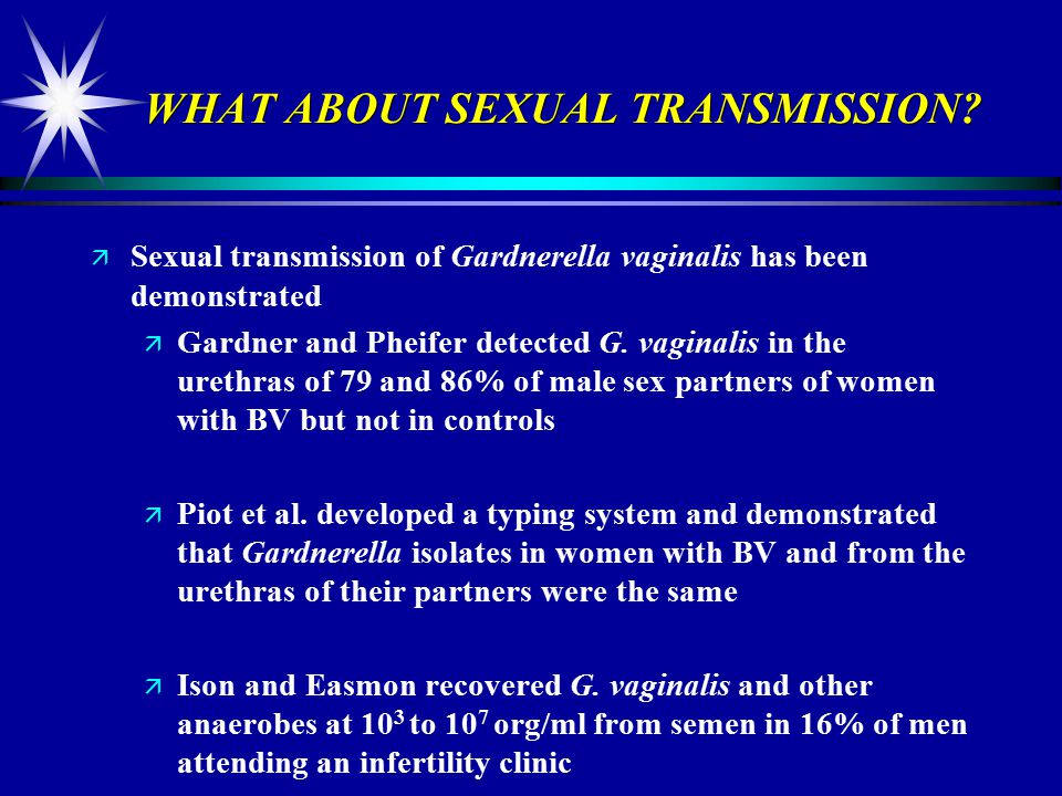 Gardnerella vaginalis sexually transmitted