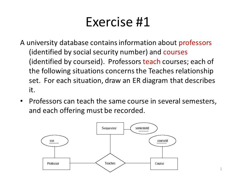 Entity relationship models ppt video online download entity relationship models 2 exercise 1 a university database ccuart Images