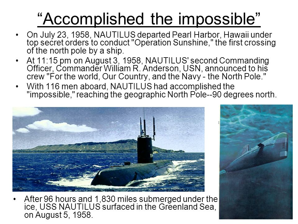 Image result for USS Nautilus (SSN-571)