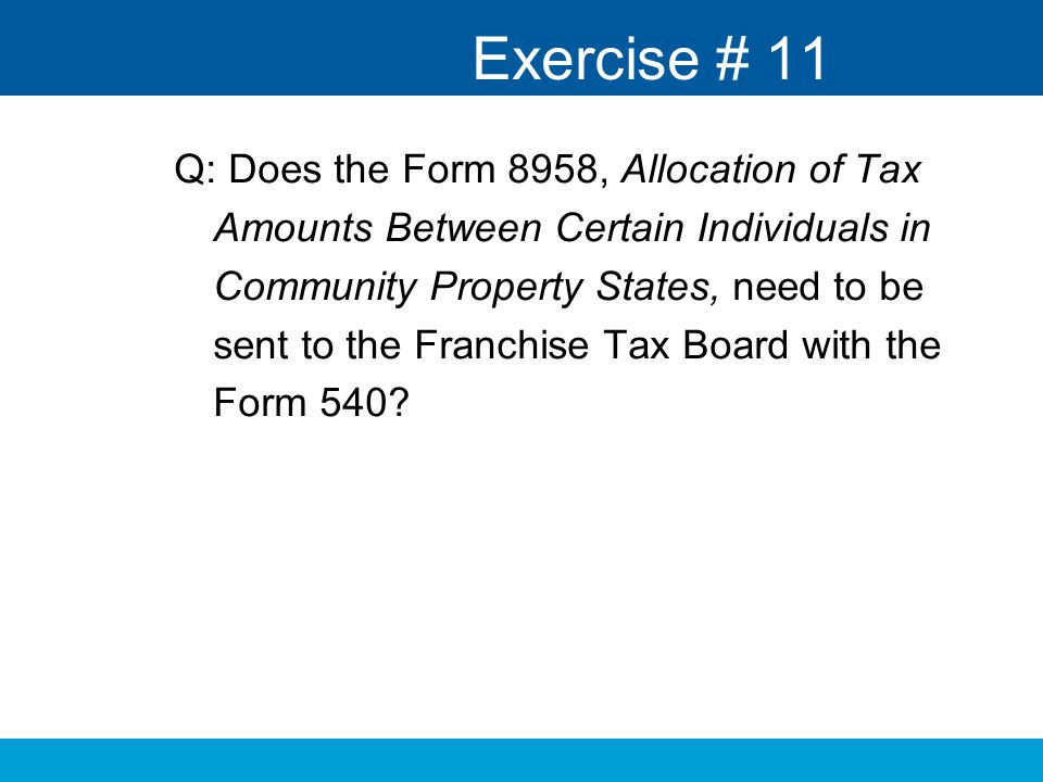 Married Filing Separately and Community Property Training - ppt