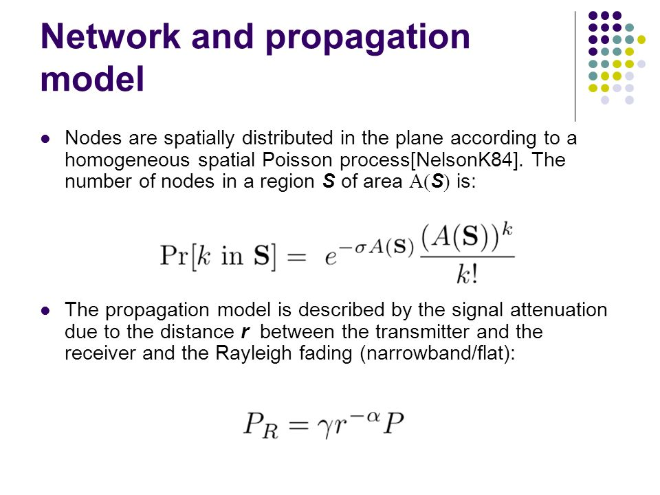 Network and propagation model