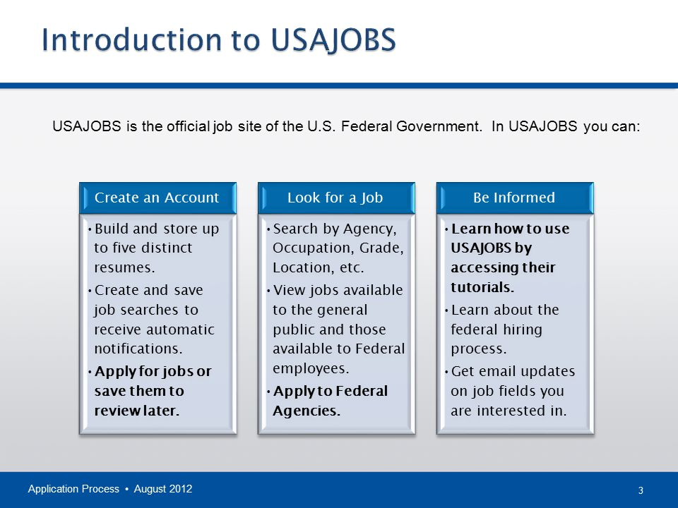 Introduction to USAJOBS