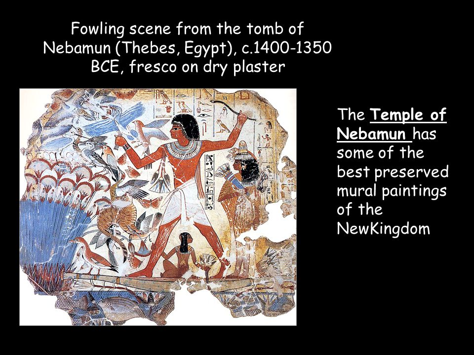 Fowling scene from the tomb of Nebamun (Thebes, Egypt), c