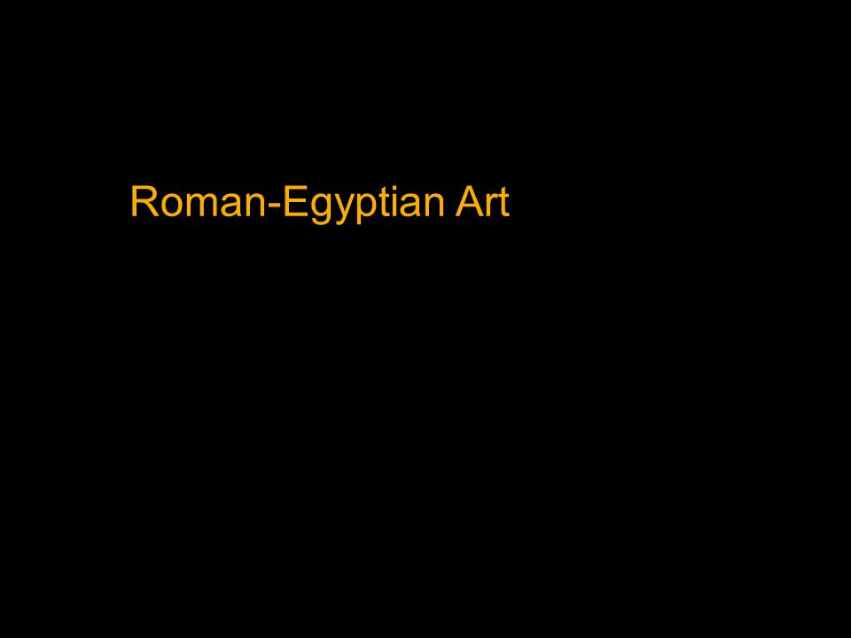 Roman-Egyptian Art