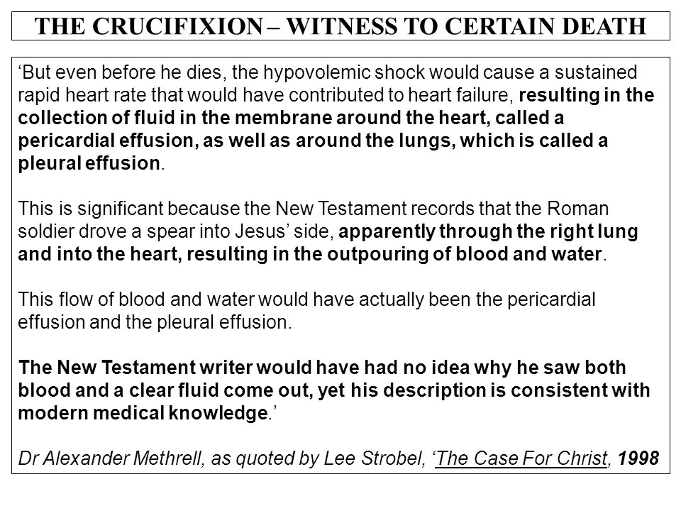 EVIDENCE FOR THE RESURRECTION OF CHRIST - ppt video online download