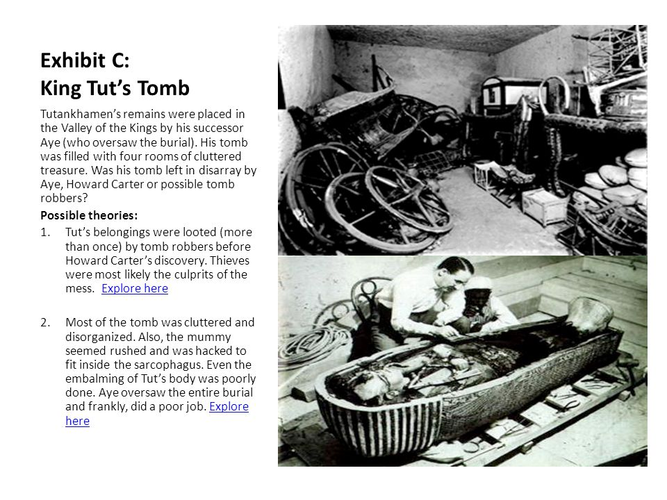 How Did King Tut Die? Directions: The following slides contain