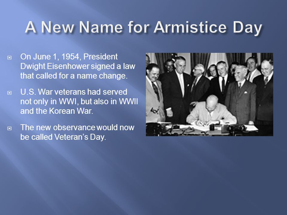 A New Name for Armistice Day
