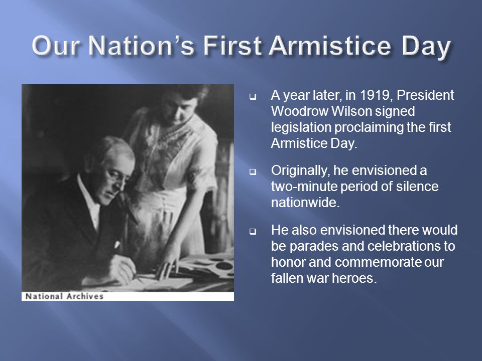 Our Nation's First Armistice Day