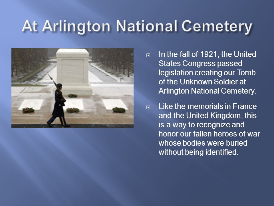 At Arlington National Cemetery