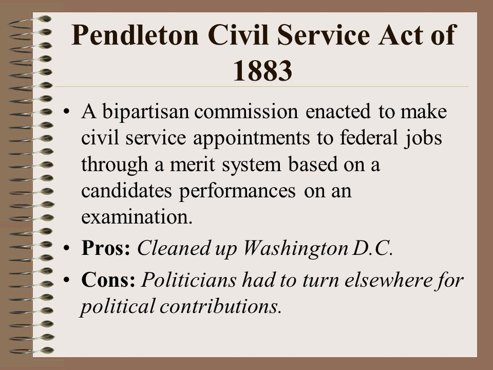 Pendleton Civil Service Act of 1883