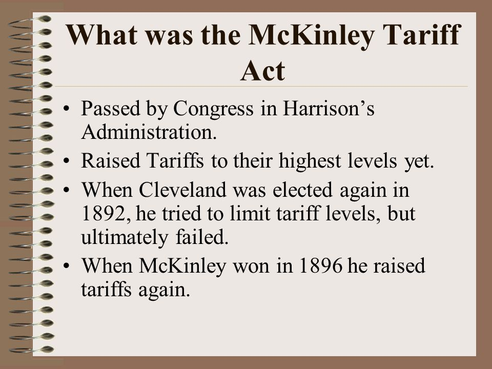 What was the McKinley Tariff Act