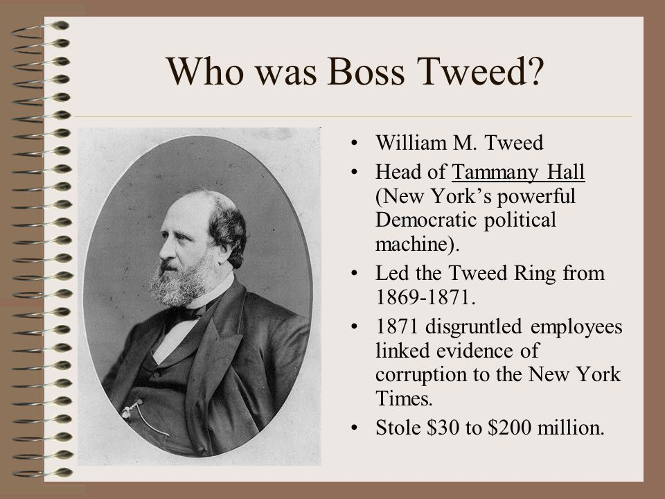 Who was Boss Tweed William M. Tweed