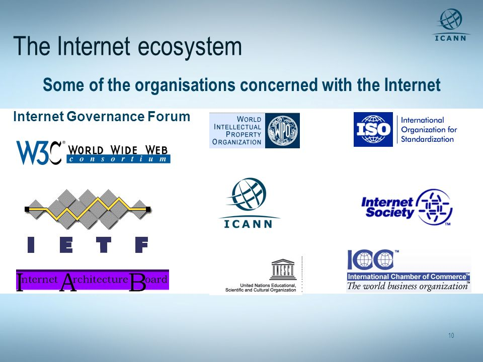 The Internet ecosystem