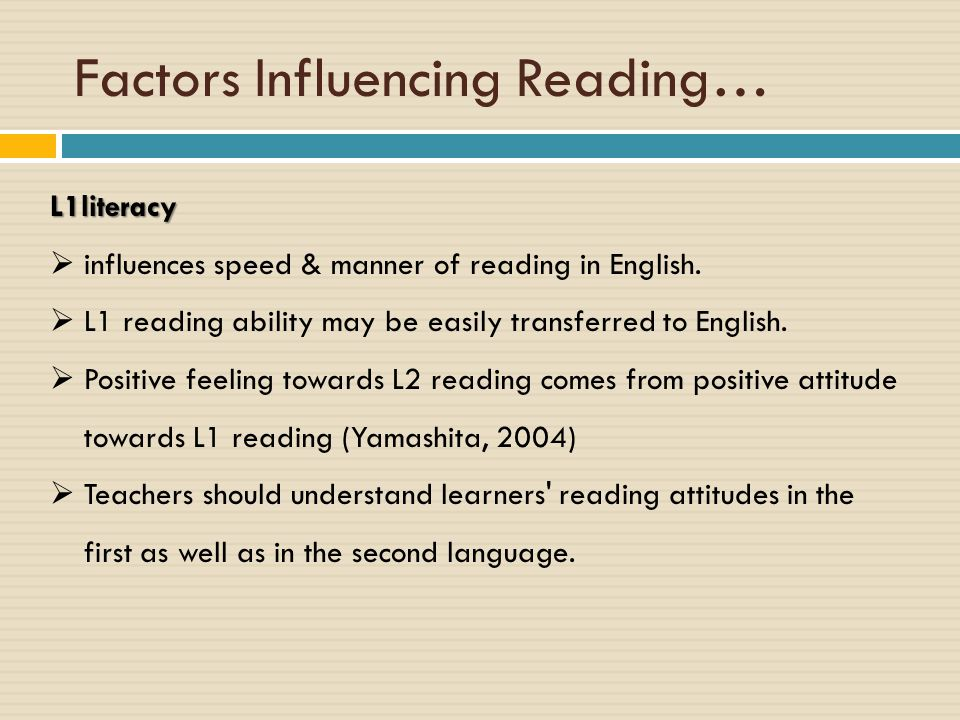 Factors Influencing Reading…