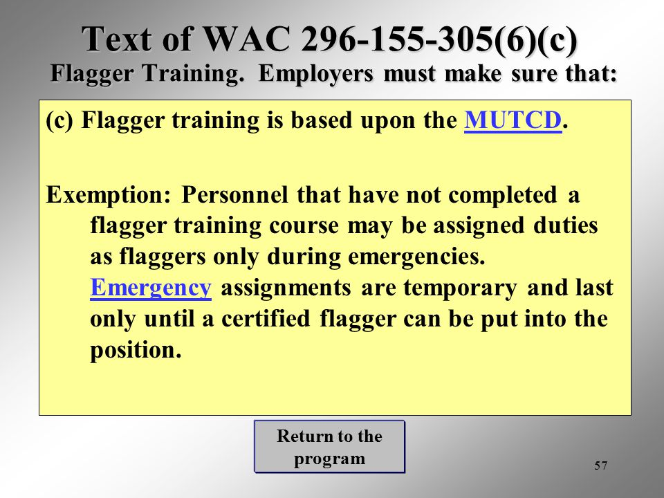 Rules For Flaggers Wac Ppt Video Online Download