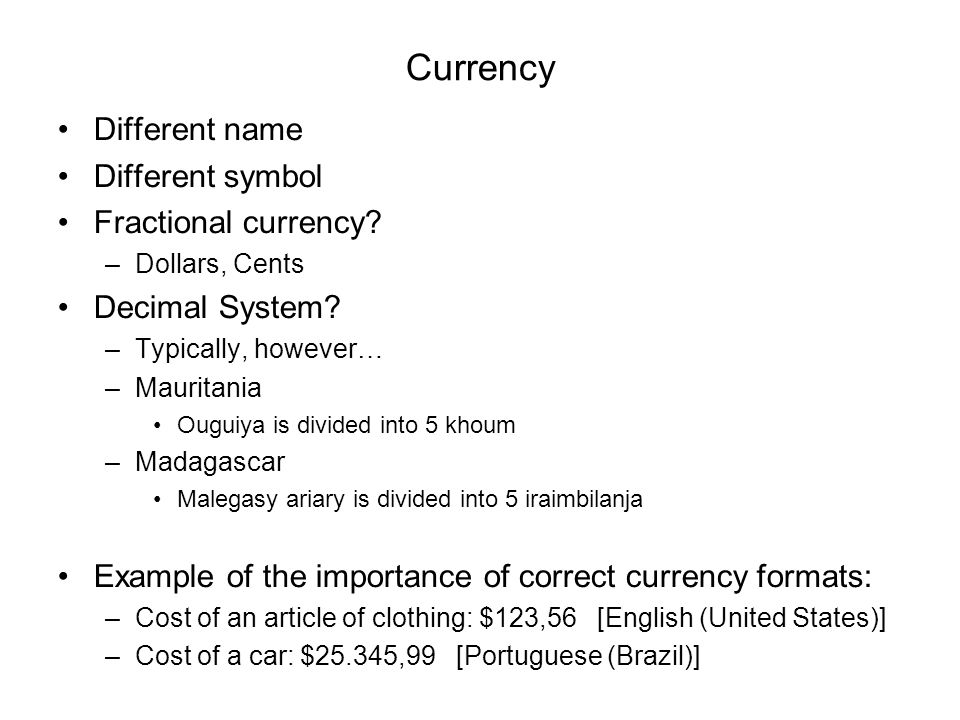 Number Formats Number Formats Vary In Different Cultures Ppt Download