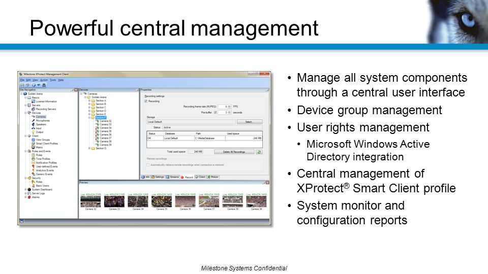 Powerful central management