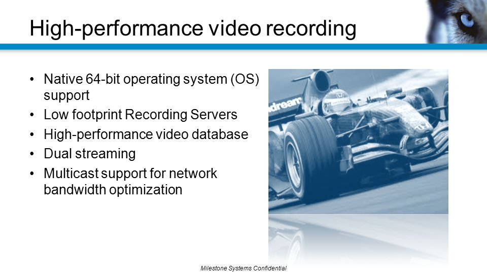 High-performance video recording