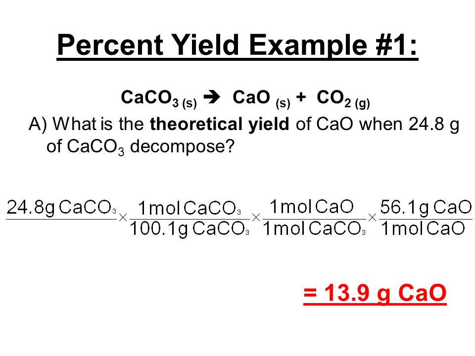 Notes 123 Limiting Reagent Percent Yield Ppt Video Online
