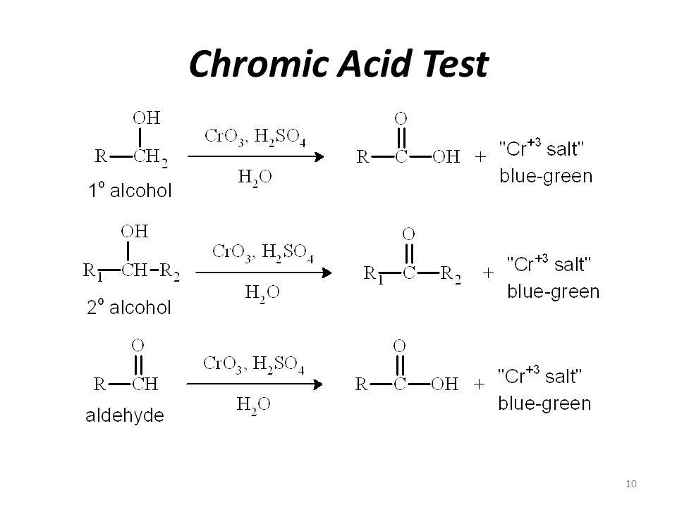 chromic acid test for alcohol reaction