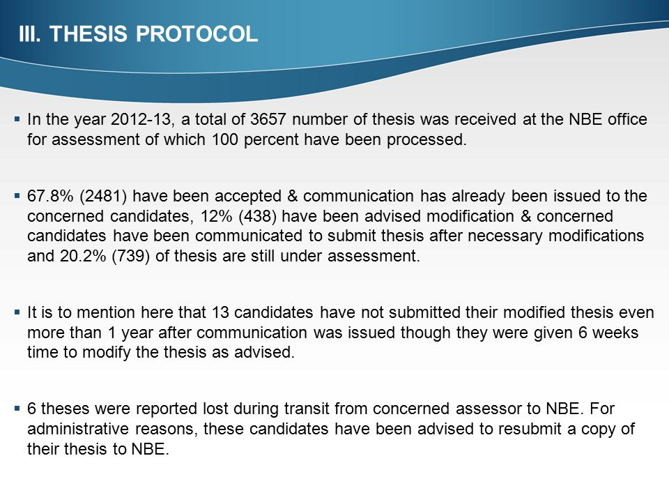 thesis protocol submission form nbe