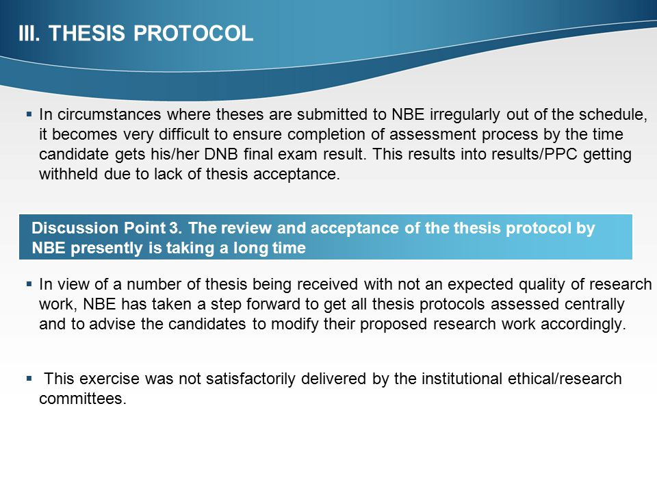 nbe dnb thesis protocol