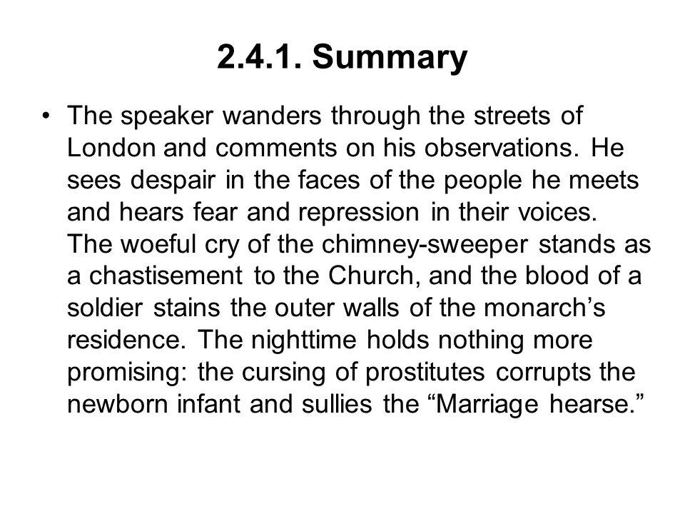 chimney sweeper poem theme