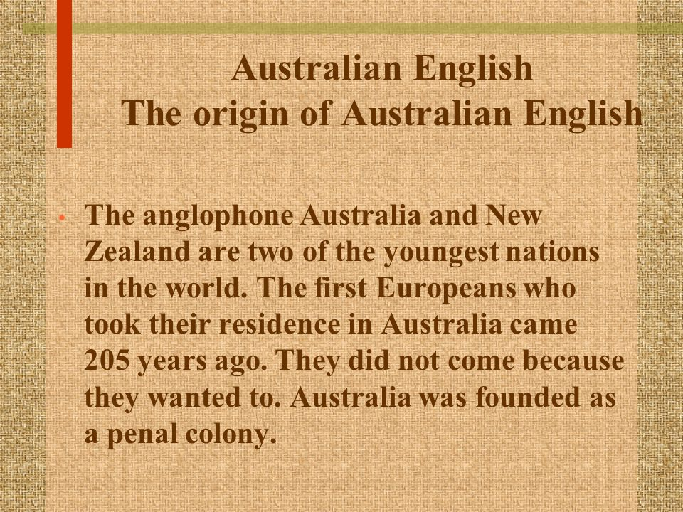 English Speaking Countries Australia Ppt Download