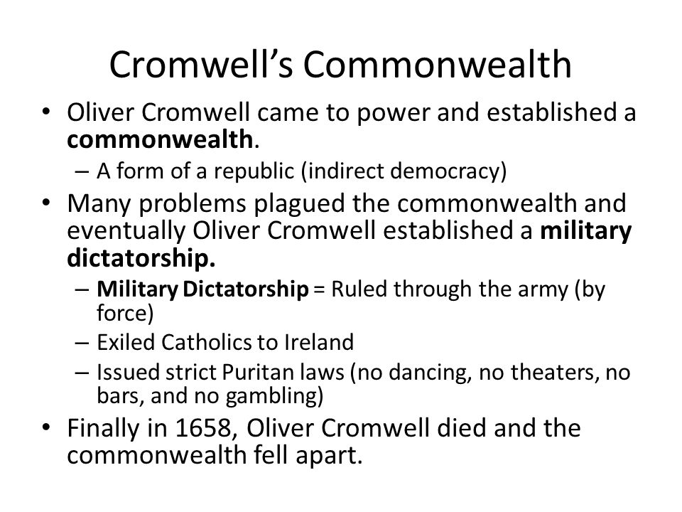 Cromwell's Commonwealth