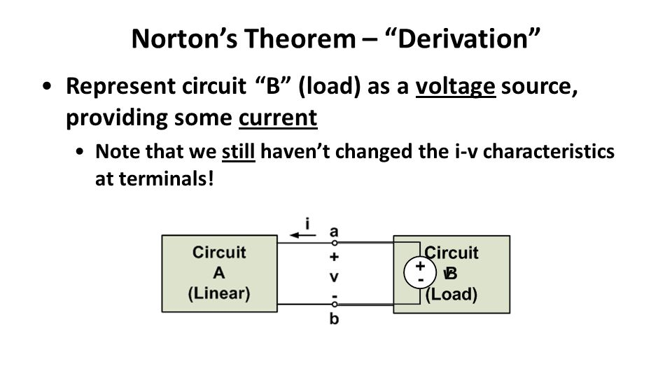 Norton's Theorem – Derivation