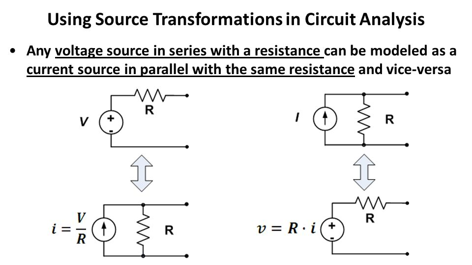 Using Source Transformations in Circuit Analysis