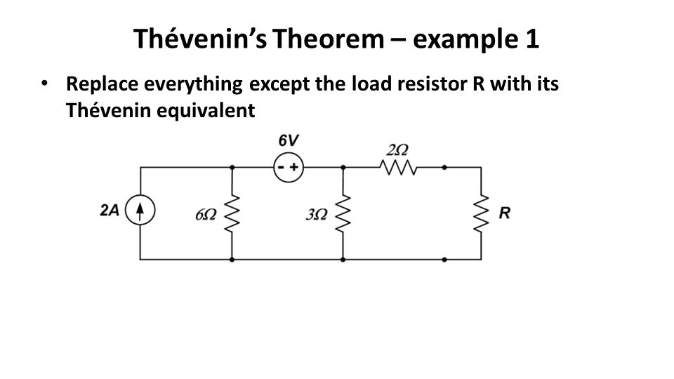Thévenin's Theorem – example 1
