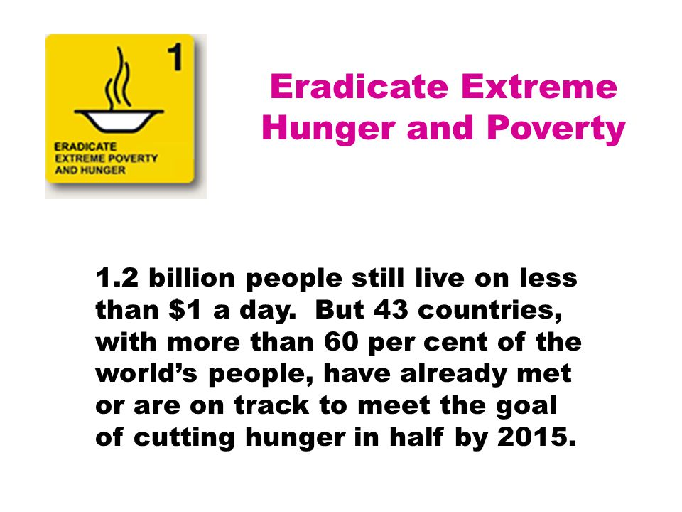 Eradicate Extreme Hunger and Poverty