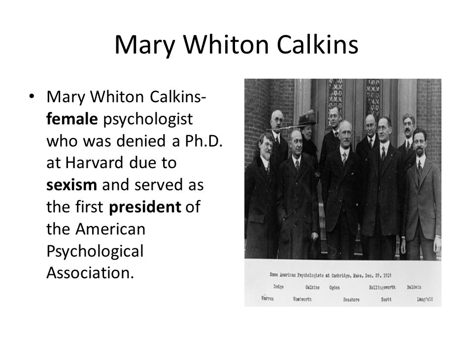 mary whiton calkins psychology
