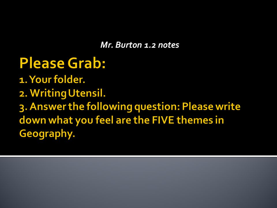 Mr. Burton 1.2 notes