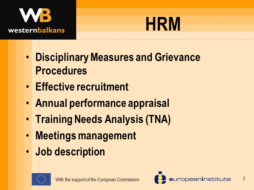 HRM Disciplinary Measures and Grievance Procedures