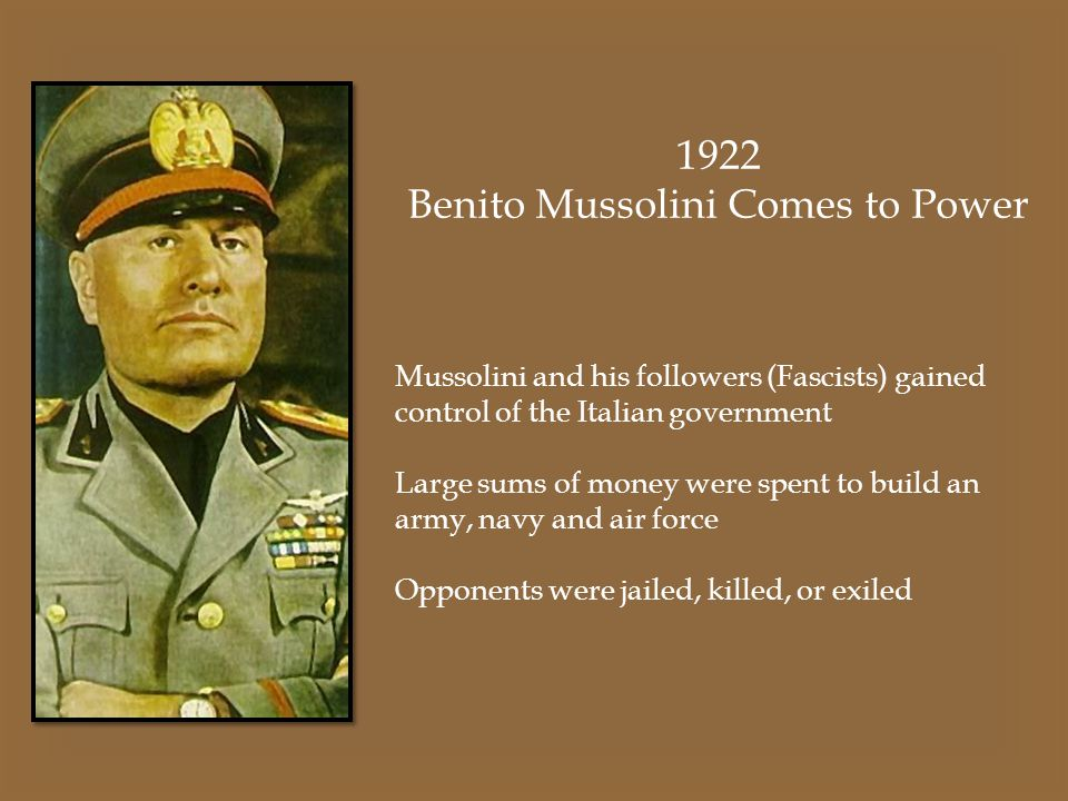 Image result for benito mussolini takes control of the italian government