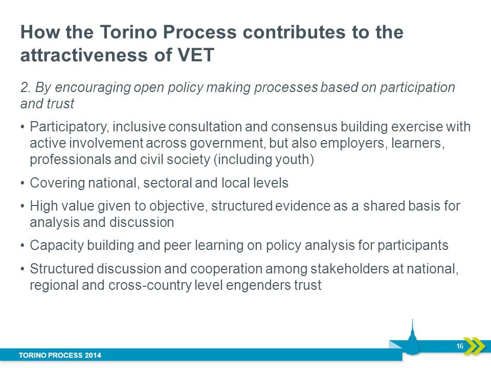 How the Torino Process contributes to the attractiveness of VET